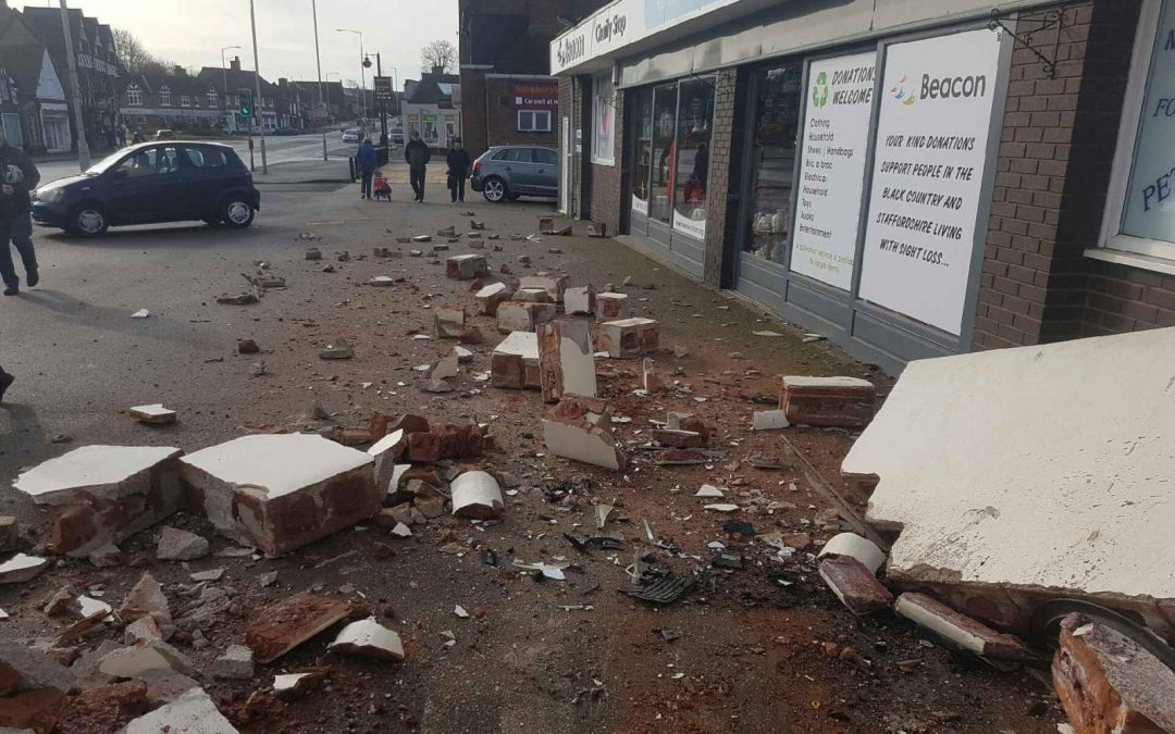 Clean up outside Penkridge shop