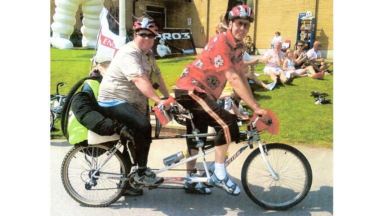 Tandem ride in aid of Beacon