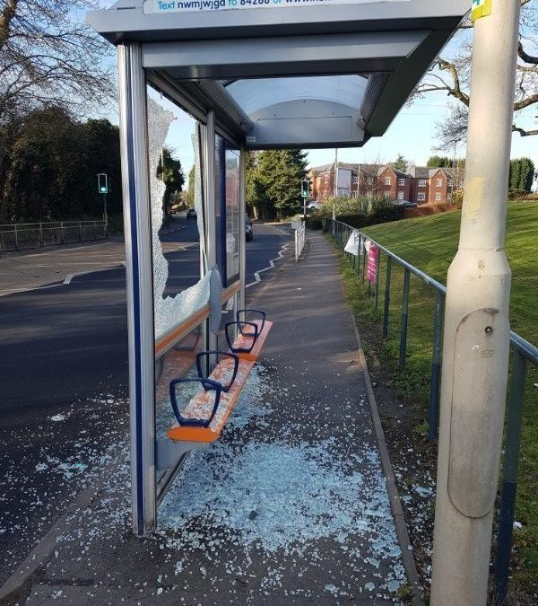 Beacon appeals for end to bus stop vandalism